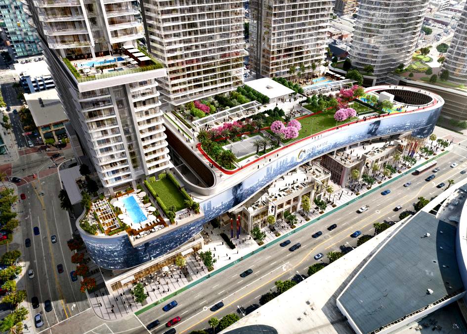 Oceanwide Plaza Aerial View